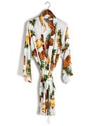 Bride Bridesmaid Cotton With Tea-Length Kimono Robes