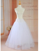 Women Tulle Netting/Satin Floor-length Petticoats