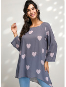 Long Sleeves Cotton Blends Round Neck It does not include clothes inside. Blouses