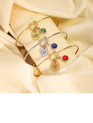 Custom Bangle Birthstone Bracelets With Birthstone -
