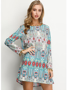 Cotton With Print Above Knee Dress