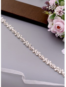Polyester Sash With Lace/Rhinestones