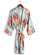 Charmeuse Bride Bridesmaid Mom Floral Robes