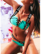 Elegant Solid Color Polyester Bikinis (Set of 2 pieces)