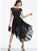 Cotton With Lace Asymmetrical Dress