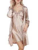 Charmeuse Bride Bridesmaid Blank Robes Lace Robes