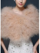Feather/Fur Wedding Wrap