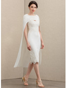 Lace Stretch Crepe Special Occasion Wrap