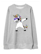 Motif Animal Mélange de coton Sweat-shirts Sweat-shirts