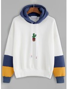Print Cotton Blends Hoodie Sweatshirts