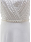 Beautiful Satin Sash With Imitation Pearls