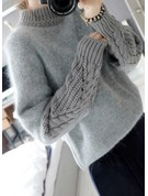 Cable-knit Mohair Turtleneck Sweater Sweaters