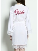 Bride Cotton Satin & Lace Robes