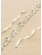 Elegant/Gorgeous/Exquisite Satin Sash With Beading/Rhinestones