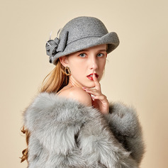 Ladies' Beautiful/Glamourous/Charming Wool With Feather Bowler/Cloche Hats