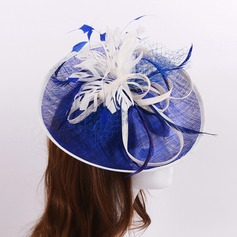 Ladies' Beautiful Cambric/Feather/Net Yarn With Fascinators
