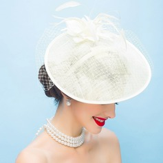 Ladies' Elegant/Simple/Pretty Cambric With Feather Fascinators