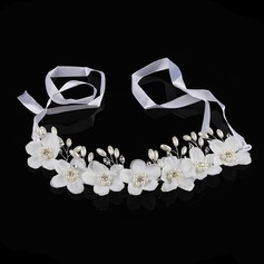Rhinestone/Silk Flower Headbands With Rhinestone (Sold in single piece)