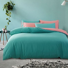 Pure Cotton Solid Color 4-Piece Comforter Set (4pcs :1 Quilt Cover 1 Bed Sheet 2 Pillowcase)