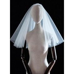 Four-tier Cut Edge Shoulder Veils