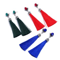 Shining Alloy Rhinestones With Tassels Rhinestone Ladies' Fashion Earrings (Set of 2)