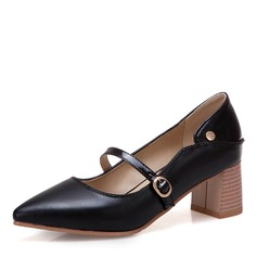 Women's Leatherette Chunky Heel shoes
