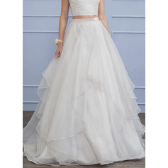 Separates Floor-Length Organza Wedding Dress