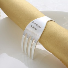 Personalized Fork Design Zinc Alloy Napkin Rings