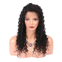 5A Virgin/remy Curly Human Hair Lace Front Wigs 250g