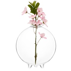 Fin Crystal Glass Vase