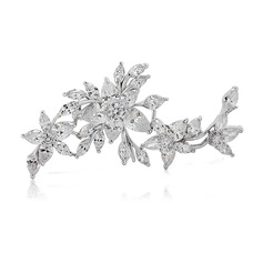 Beautiful Zircon Copper Platinum Plated Ladies' Fashion Brooches
