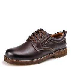 Men's Real Leather Lace-up Derbies Casual Work Men's Oxfords