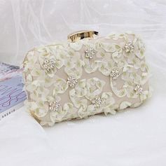 Elegant Satin/PU Clutches/Satchel