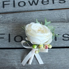 Pretty Satin Boutonniere - (123115878)