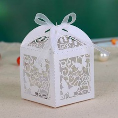 Butterfly Laser-cut Cuboid Favor Boxes With Ribbons  (050026815)
