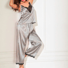 Casual Elegant Spandex Pajamas Sets