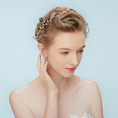 Ladies Stylish Alloy Headbands With Rhinestone/Venetian Pearl (Sold in single piece)
