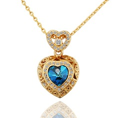 Unique Alloy/Crystal With Rhinestone Ladies' Necklaces