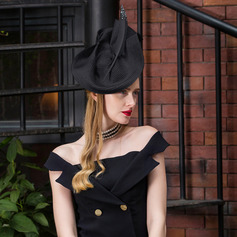 Ladies' Elegant Polyester With Feather Beret Hats/Kentucky Derby Hats