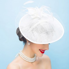 Ladies' Fashion/Glamourous/Exquisite/Amazing/Eye-catching/Romantic/Vintage Cambric With Feather Fascinators