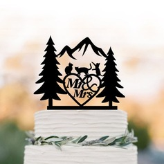 Rustic Acrylic Cake Topper