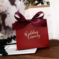 Classic Other Card Paper Favor Boxes With Ribbons