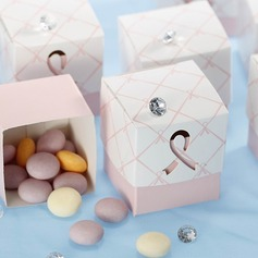 Pink Ribbon Wedding Favor Box