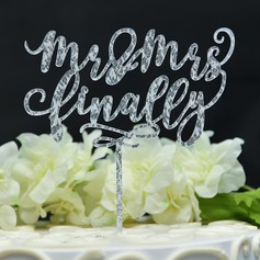Sweet Love/Mr. & Mrs. Acrylic Cake Topper