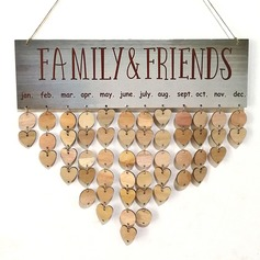 Classic/Heart Design Lovely/Pretty Wooden Wedding Ornaments