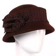 Ladies' Glamourous/Pretty/Romantic Wool Bowler/Cloche Hats