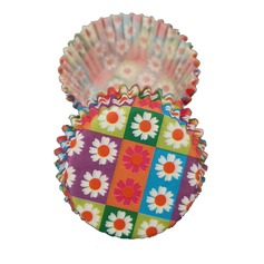 Floral Design Pearl Paper Cupcake Wrappers