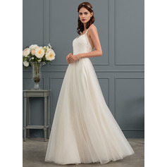 Sweetheart Floor-Length Tulle Wedding Dress (265253072)