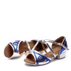 Kids' Leatherette Flats Latin Dance Shoes
