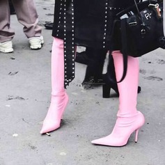 Women's Silk Like Satin Stiletto Heel Pumps Boots Over The Knee Boots shoes